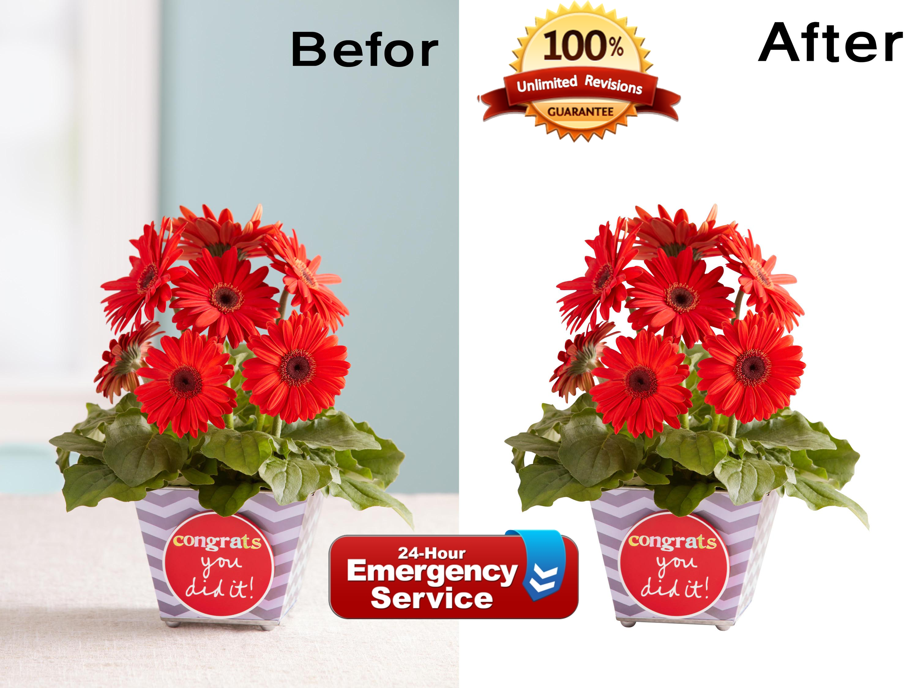 Product background Remove & Retouching services