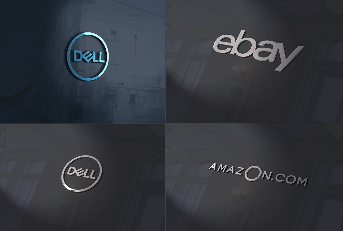 I will do 3d mockup of your logo or text on 100 different HD pic