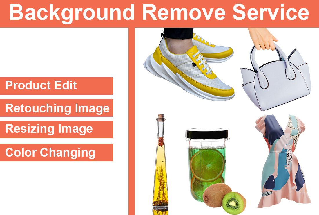 I will remove Background by photoshop 10 images