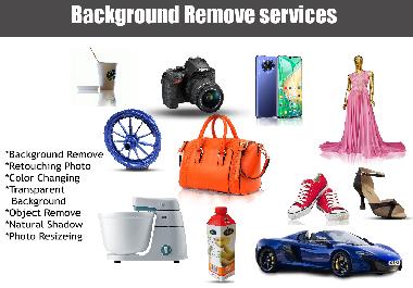 I will do photoshop editing remove background retouching resizing, color change, mockup, logo, etc