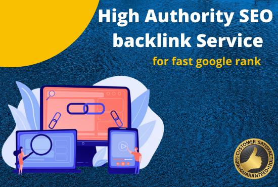 Provide high authority SEO backlinks,  link building service