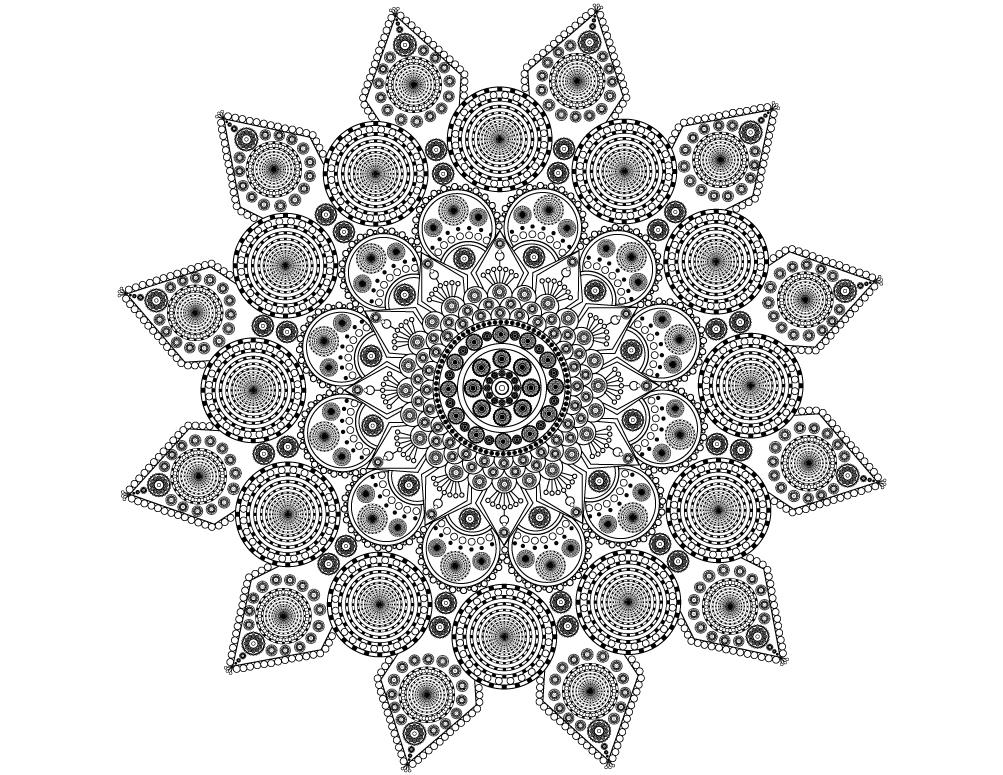 I will create floral beautiful printable adult mandala