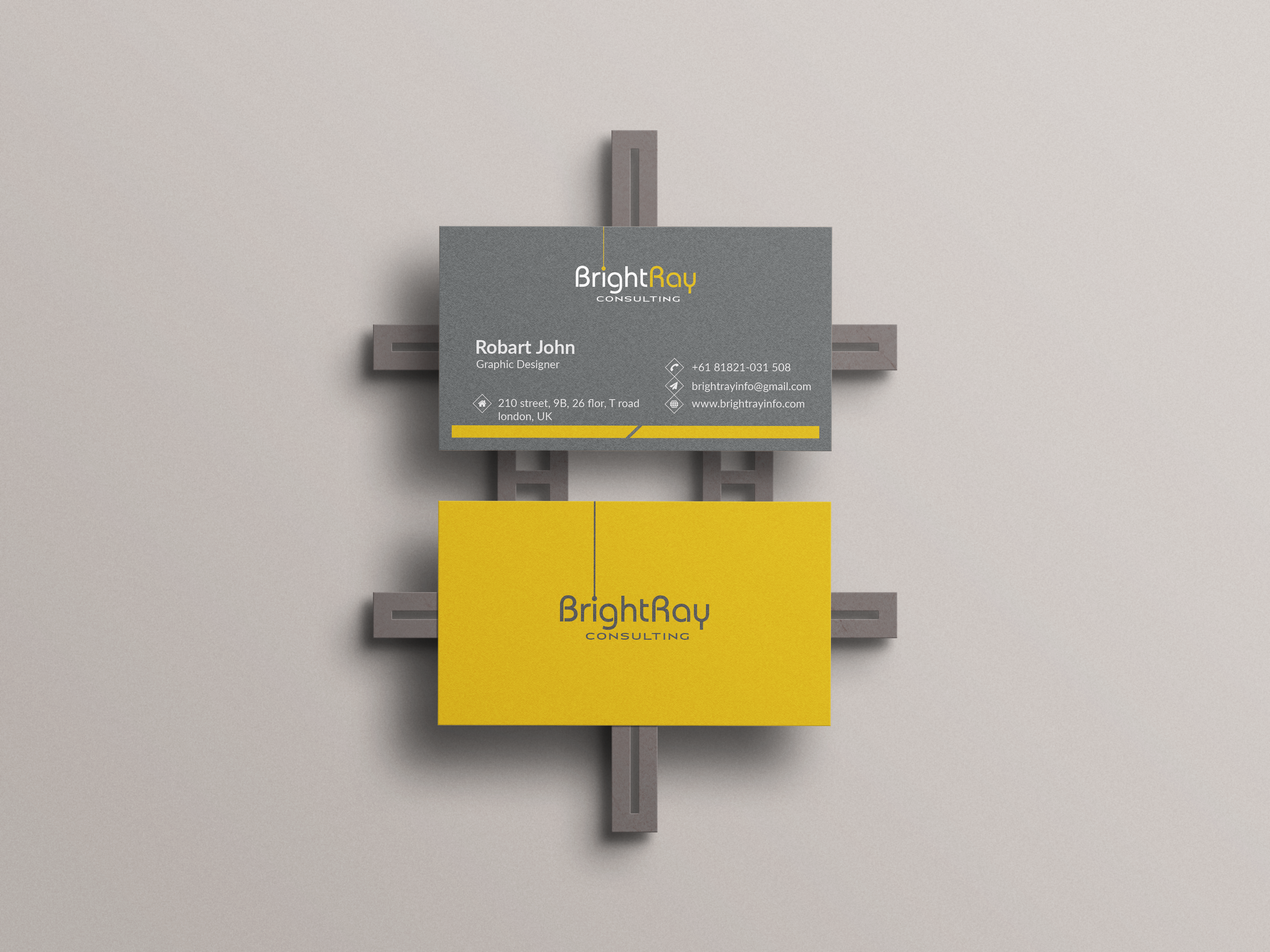 I will design professional eye catchy business card design