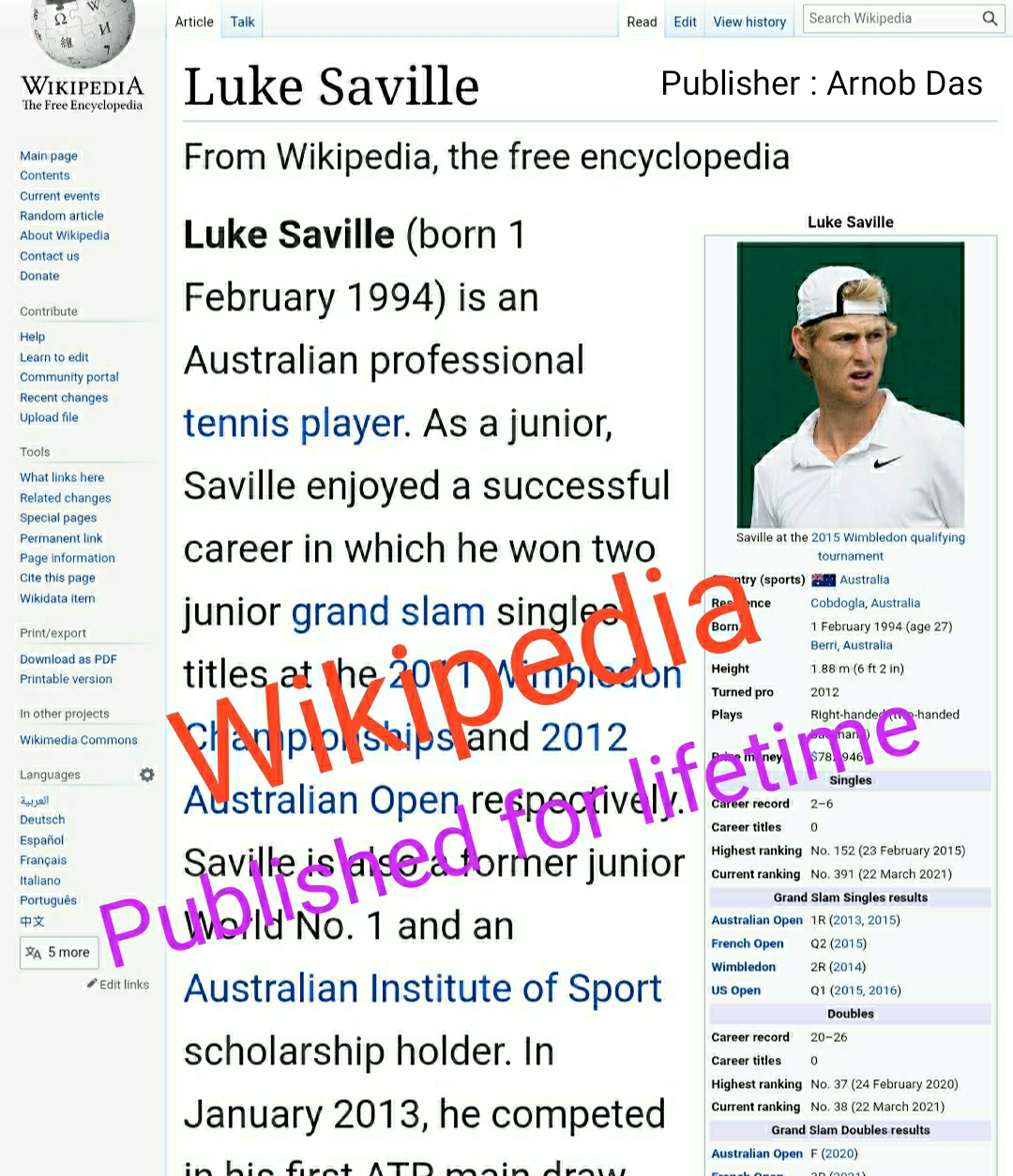 Wikipedia - I can create approved Wikipedia with lifetime guarantee
