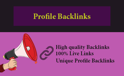 I will create 60 high quality Profile Backlinks