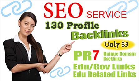 130 Profile Backlinks pr9 high quality Do follow Backlinks