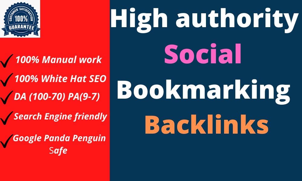 Create 20 High Authority Do-follow Social Bookmarking Backlinks Website SEO