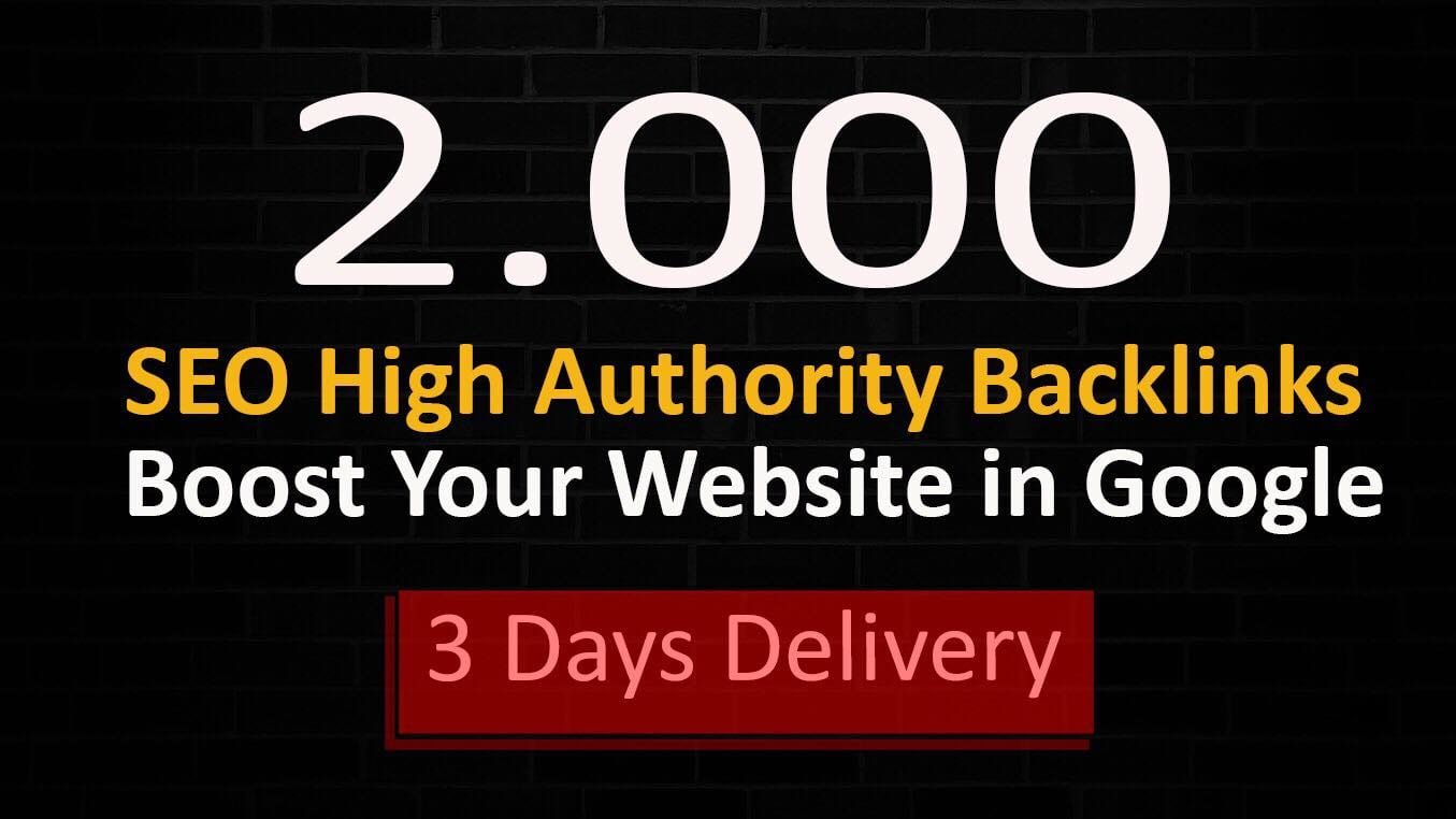I will boost your website with 2000 high quality backlinks, link building