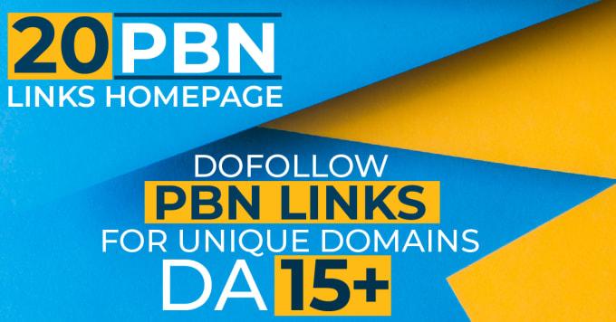 I will provide 20 pbn links dofollow pbn backlinks