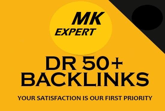 I will build high quality DR 50+ dofollow seo backlinks
