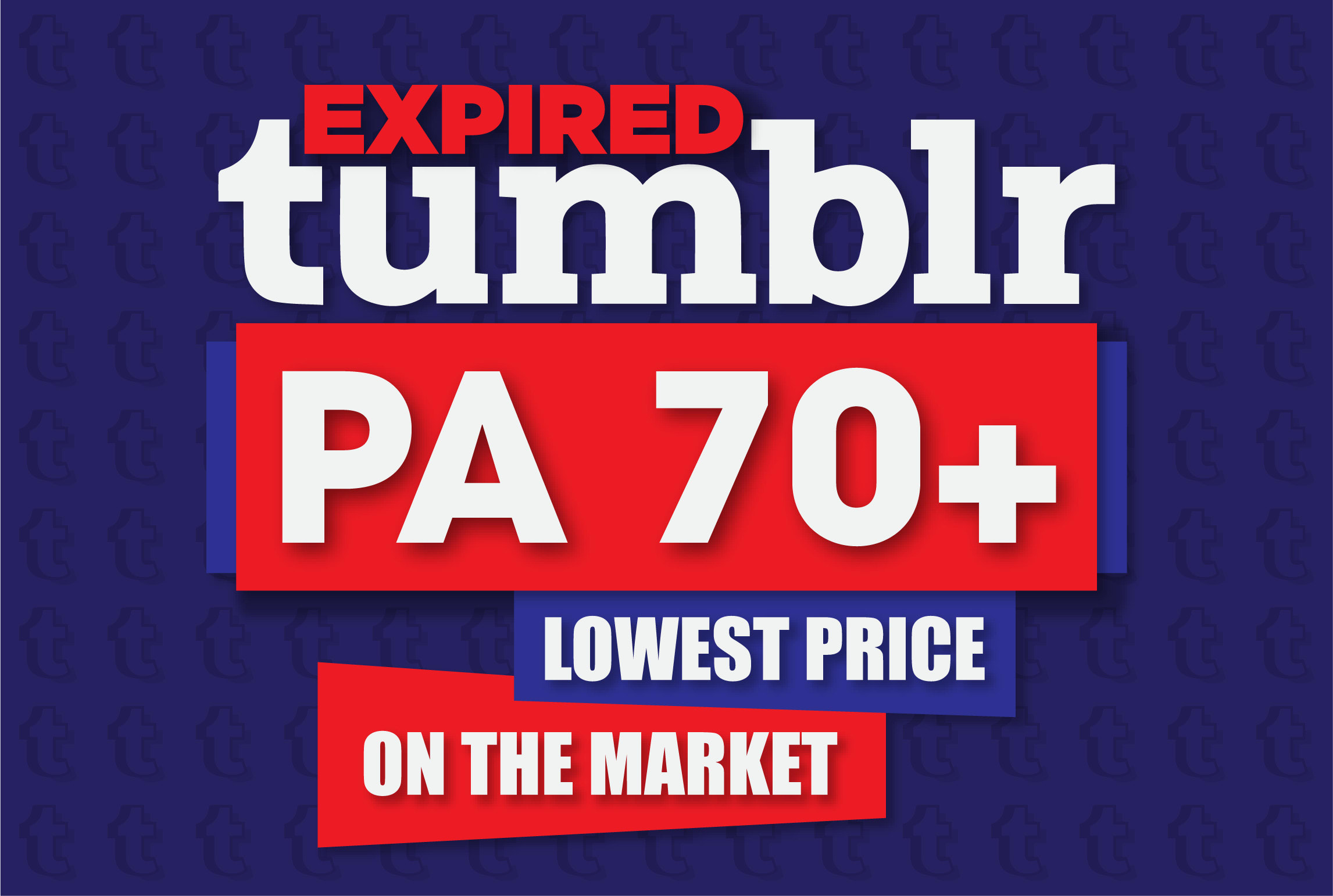 I will register 40 expired tumblr blogs pa 70 plus with backlinks