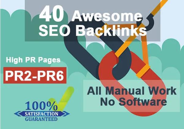 I will do 40 social bookmarking on high PR backlinks