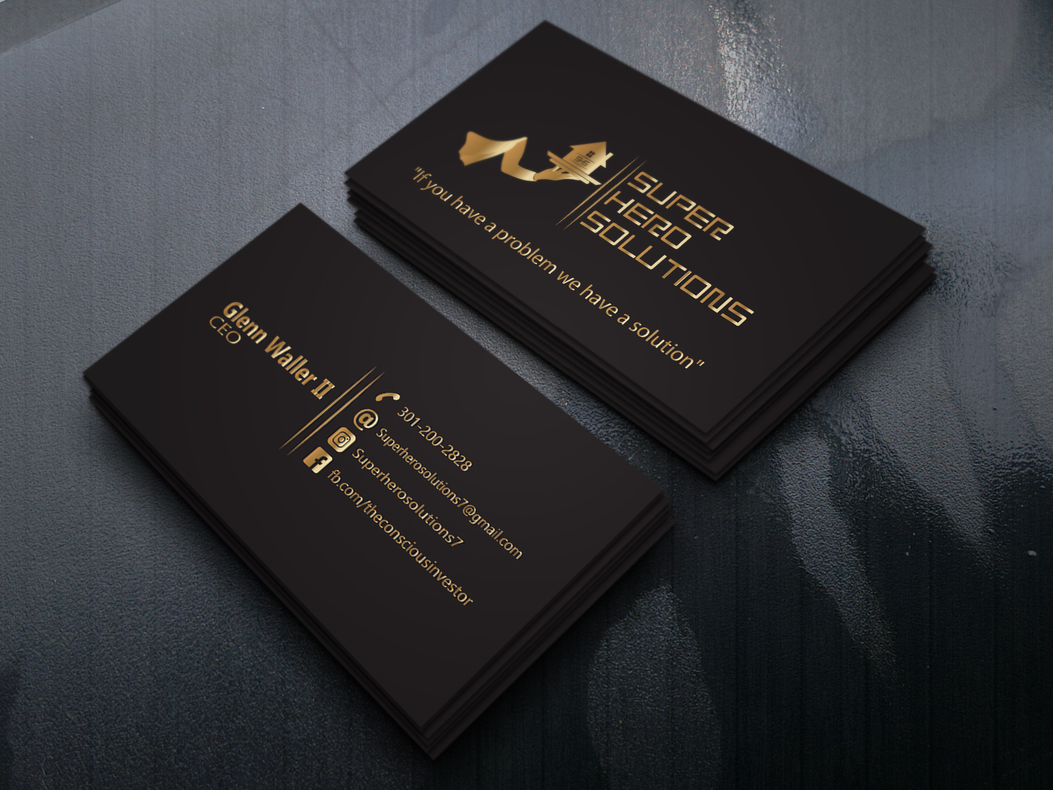 I will design an elegant print ready double sided business card
