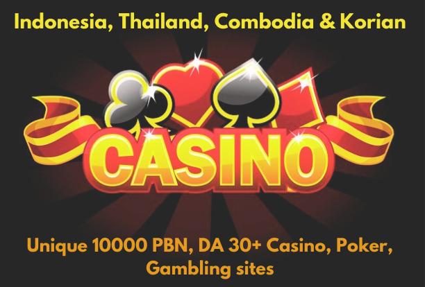 10000+ PRIMIUM CASINO PBN Backlink homepage web 2.0 with HIGH DA/PA/CF/TF WITH UNIQUE WEBSITE