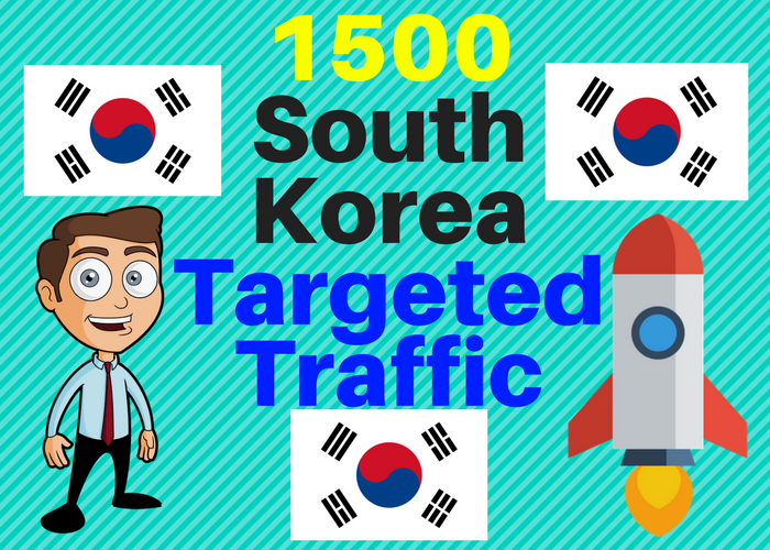 1500 Real South Korea TARGETED traffic to your web