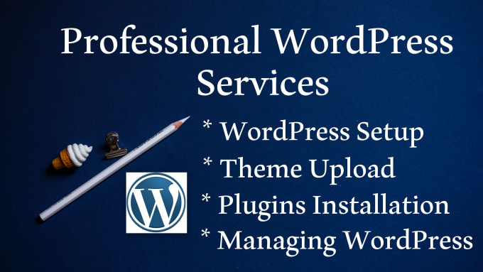I will install wordpress themes and plugins