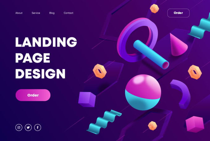 I will design a dynamic modern landing page for any site.