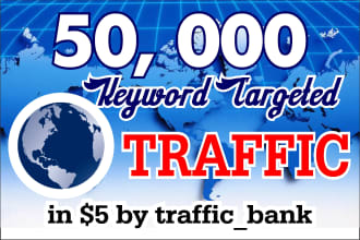 I will send 50K worldwide organic and targeted traffic