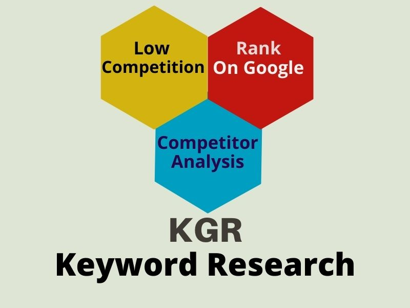 I will do kgr keyword research that actually rank your site