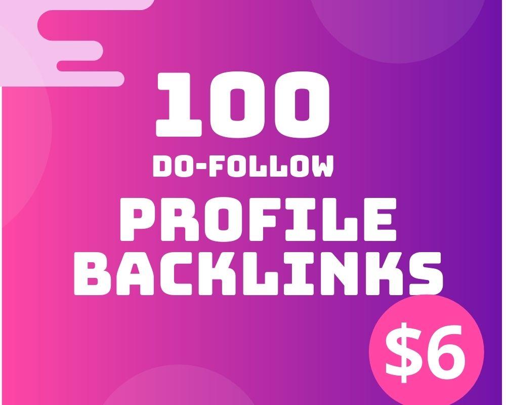 I will Do 100 Do-follow high DA profile backlinks for SEO ranking