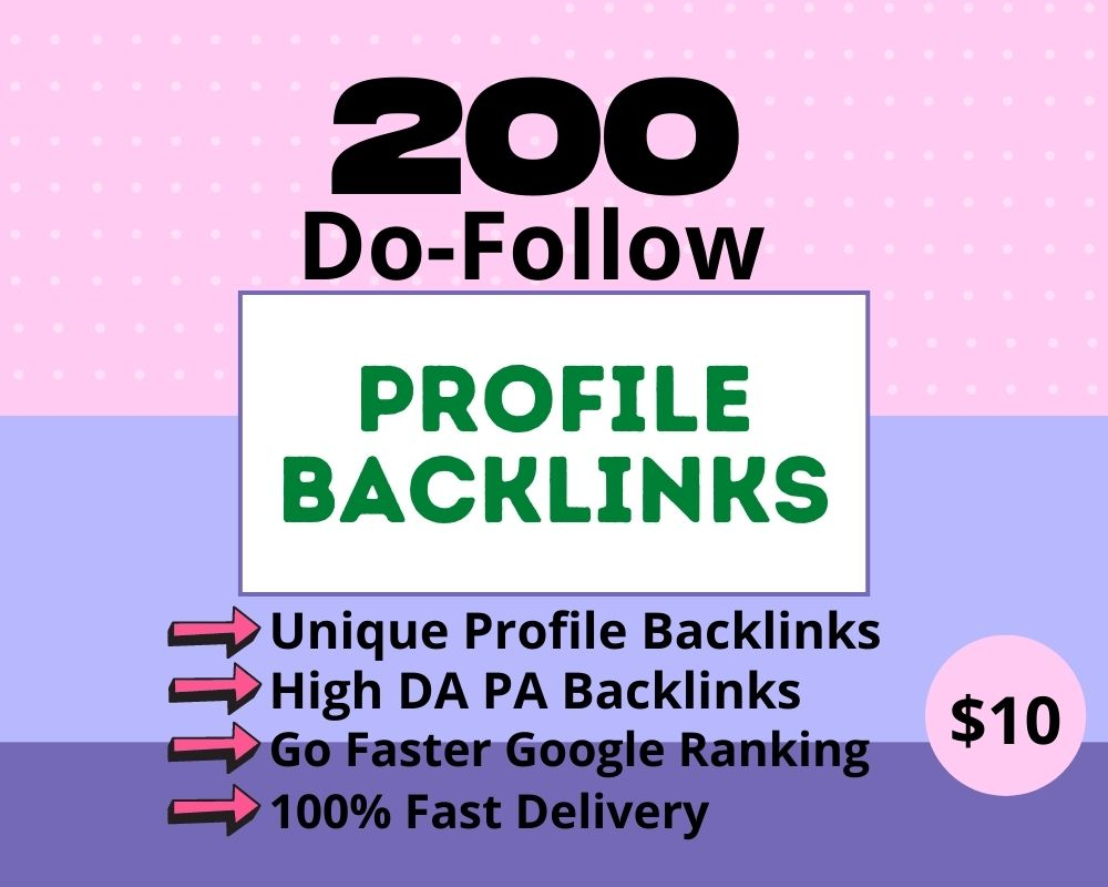 I will create 200+ High Authority Profile Backlinks For SEO Ranking