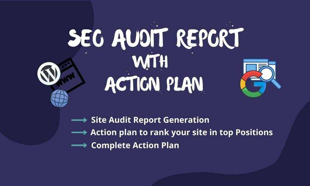 I will provide your website SEO audit report and action plan