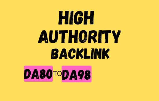 I Will Make High Authority Quality SEO do follow Backlinks