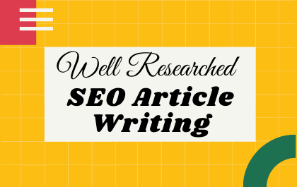 2500 words Well Researched SEO article writing
