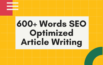 I will be your SEO Content,  Article,  or blog writer on any topic