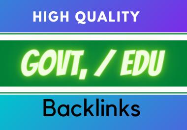 Provide 20 High PR Govt./ Edu Backlinks for your site seo