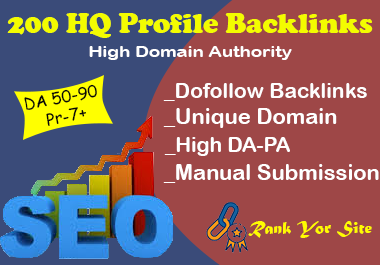 I'll Provide 200 High DA PA Dofollow Profile Backlinks
