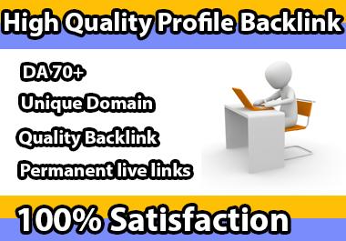 I will create 30 SEO profile backlinks high domain authority Site