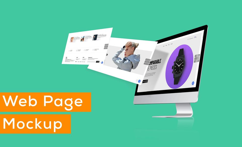 I will do a very nice job of creating modern designer web pages mockup and PSD logo mockup