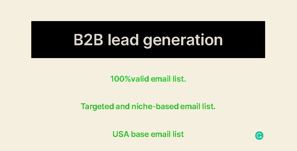 I will do 5k-10k B2B leads generation and targeted niches email lists.