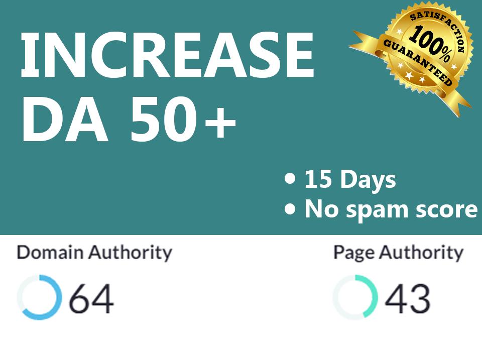 Increase Domain Authority 50 plus