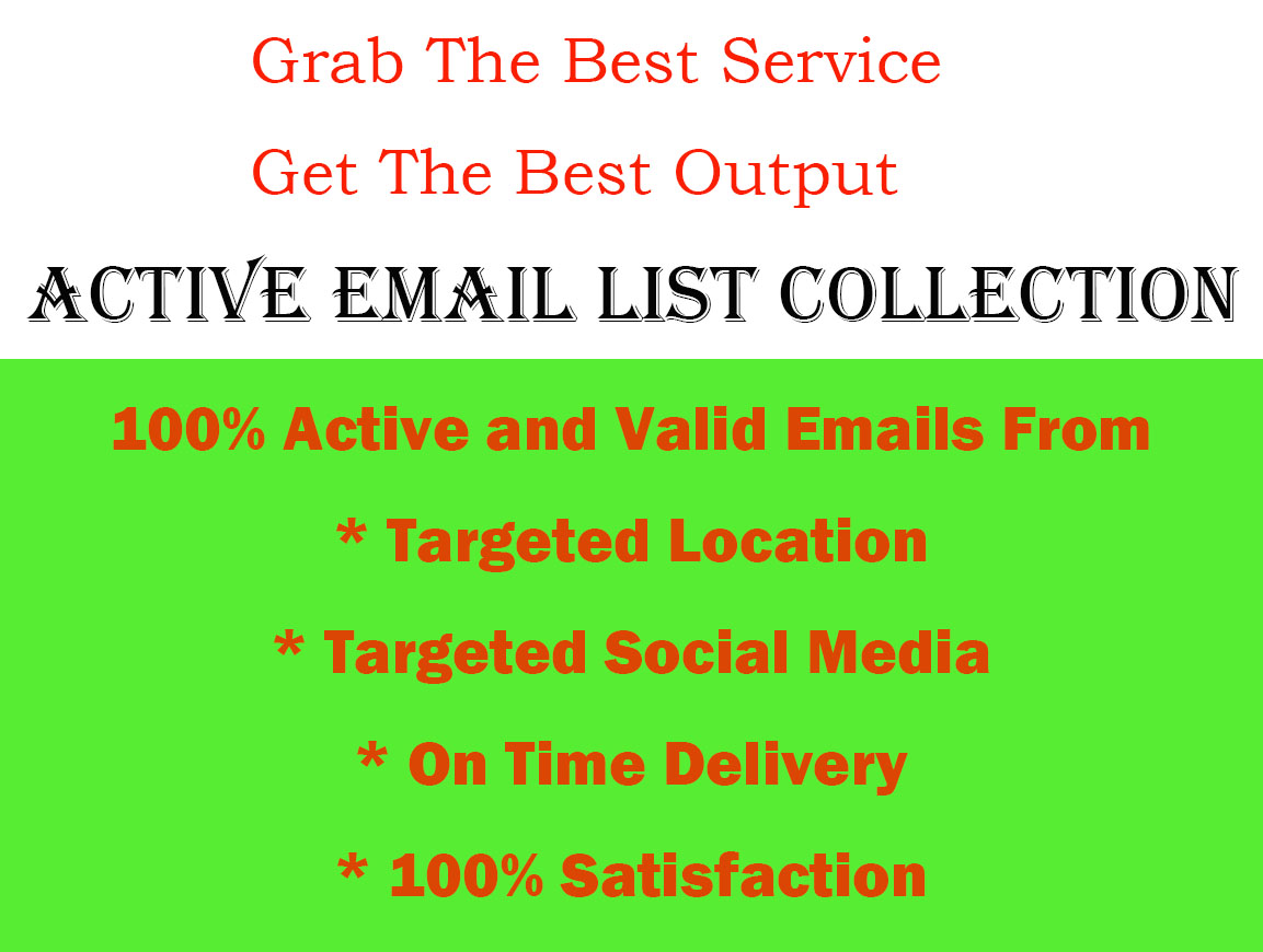 I will collect active emails from targeted social media or location
