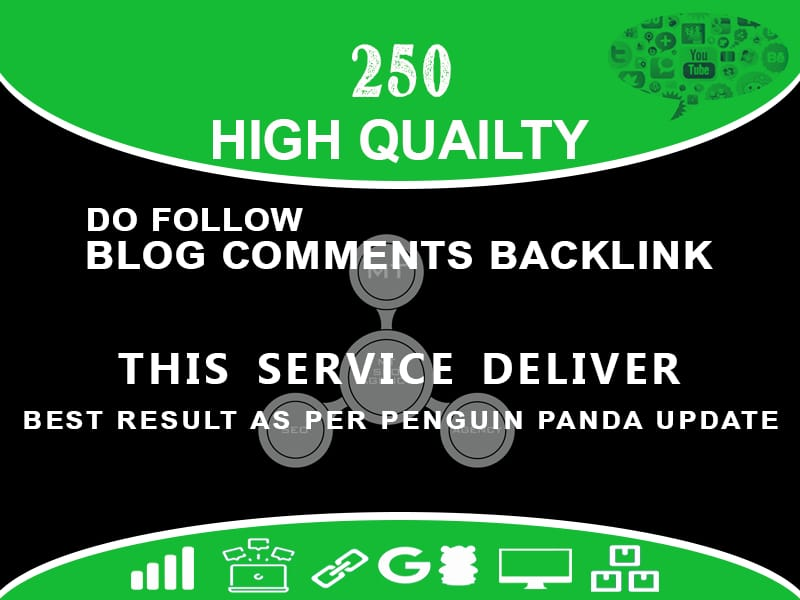 Build 250 High Quality Blog Comments With Permanent Links.