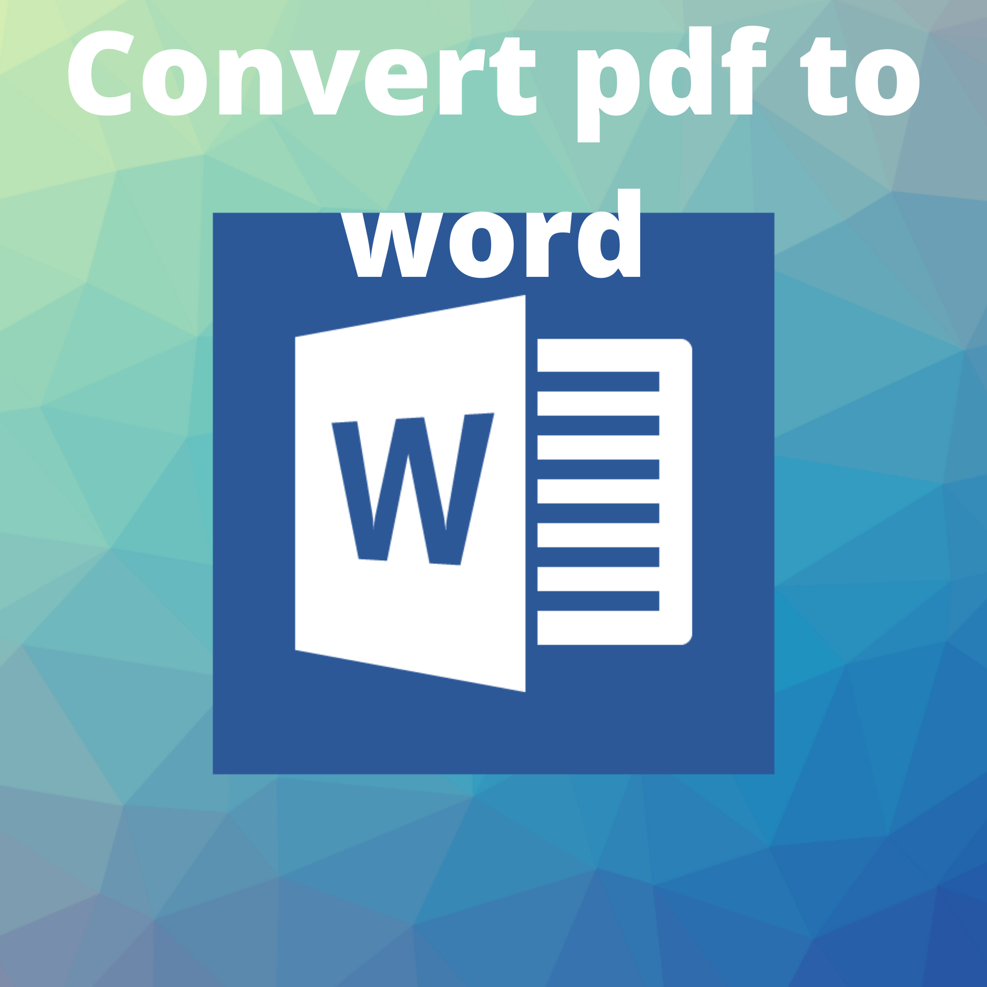 convert Your Document to word file