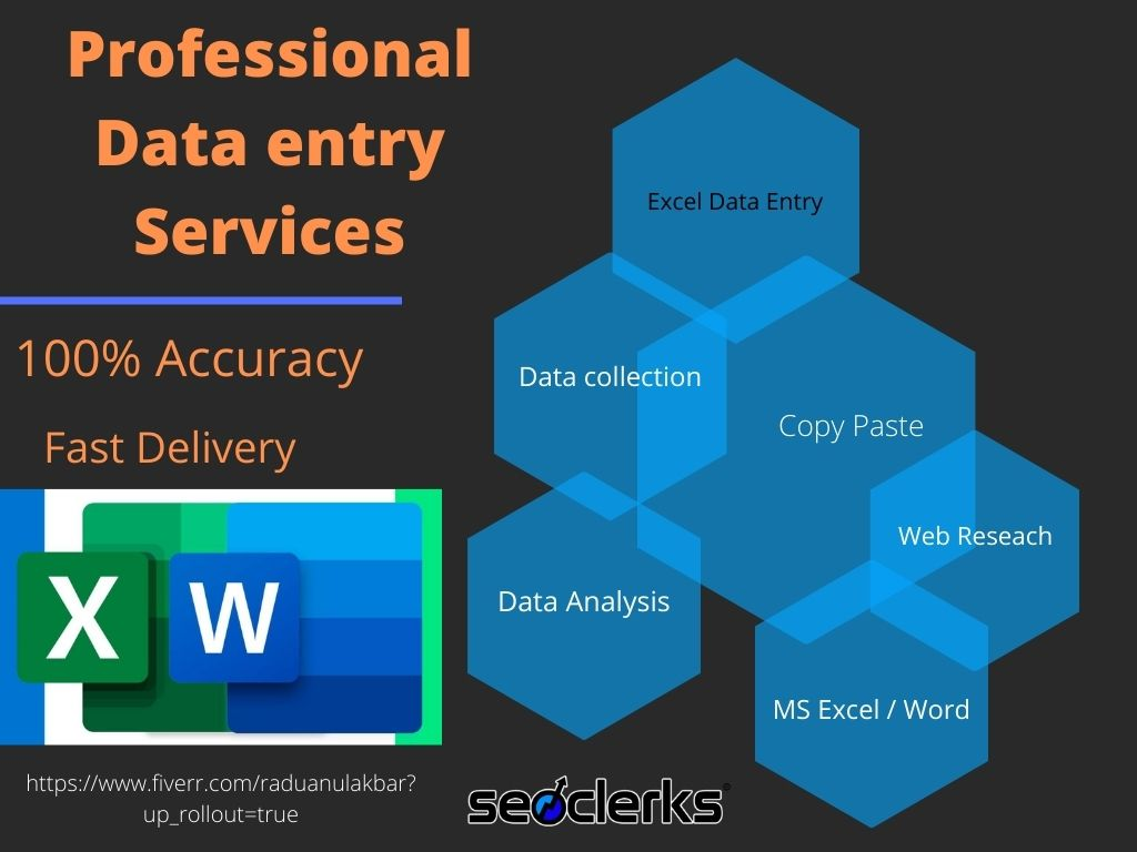 I will do excel data entry, web research, copy past, typing