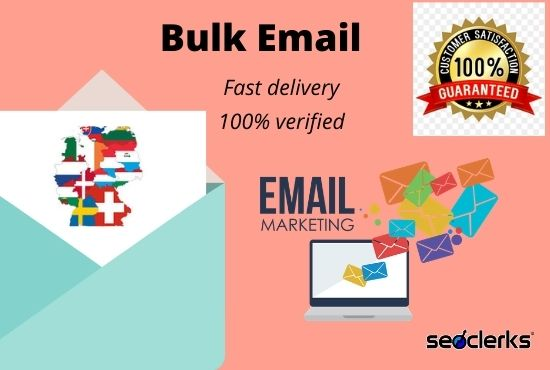 I will provide a verified bulk email list