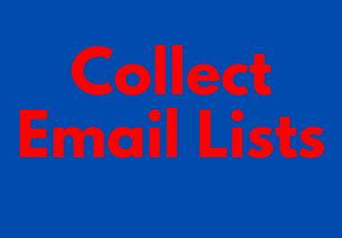 Collect Niche Base Email Lists