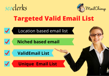 I will provide targeted bulk email list for your email marketing