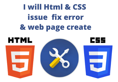 I will Html & CSS issue fixing & responsive design to your web page.