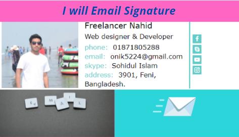 I will design responsive Html Email Signature & clickable.