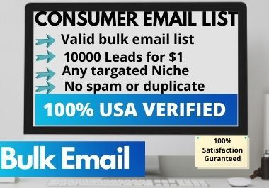 I will provide valid USA & UK verified targeted 10000 bulk Email