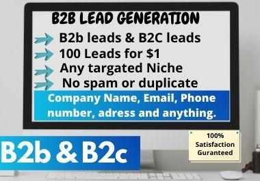 i will collect b2b targeted leads and lead generation,100 leads
