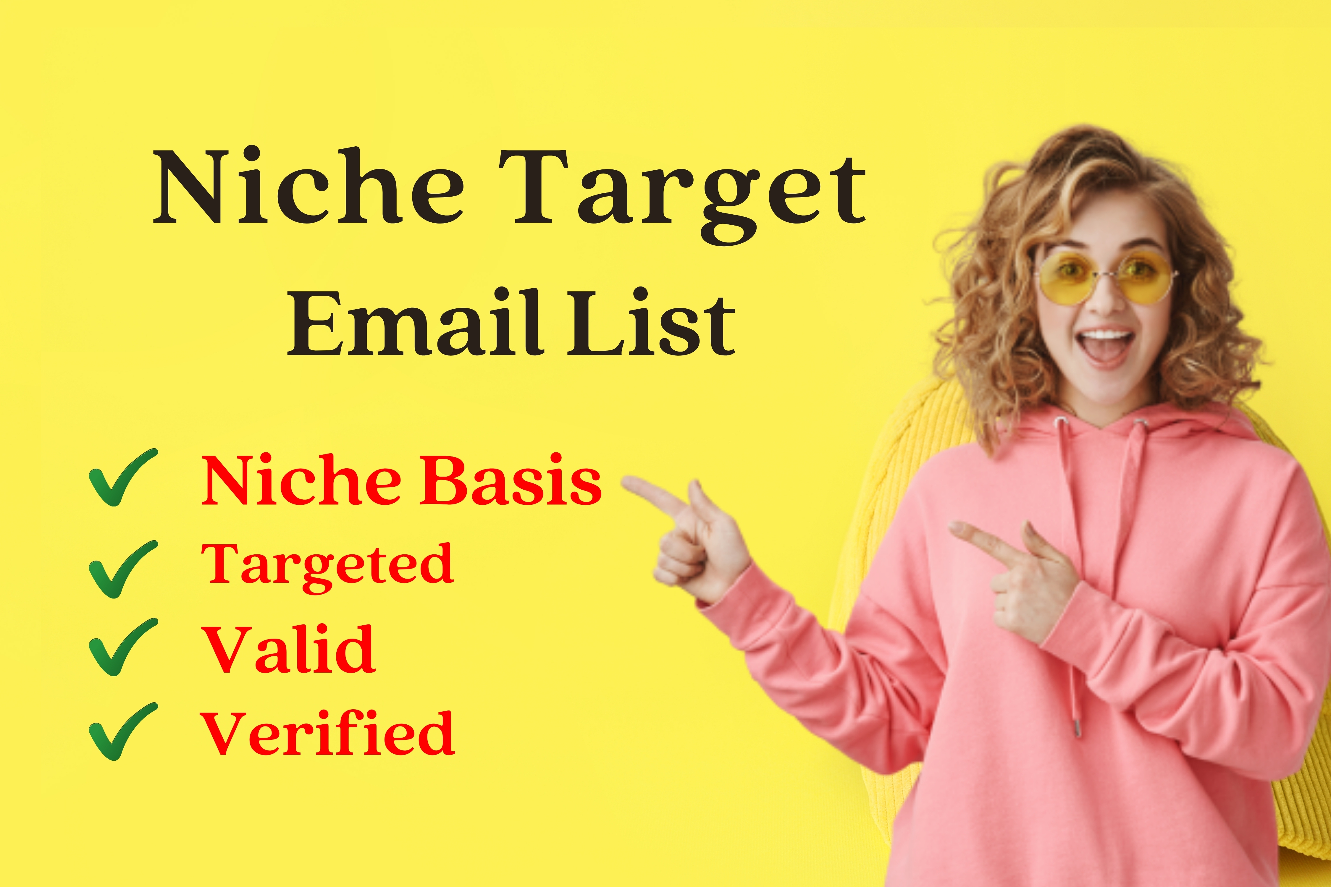 I will provide target city and target niche mail list