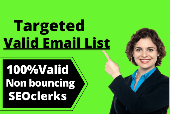 I will do valid email collection and Email list building