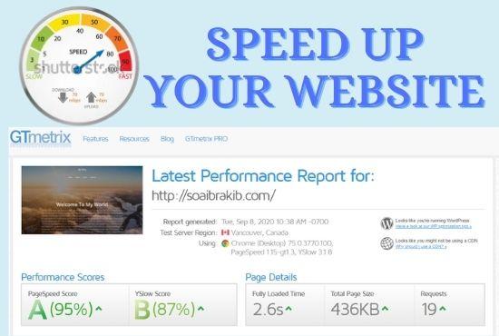 I will WordPress speed optimization, optimize WordPress, page speed