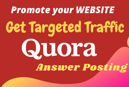 Promote your website 15 Niche Relevant Quora Answers for getting Traffic